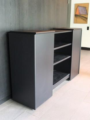 WOGG- ausklappbares Sideboard- Farbe: schwarz