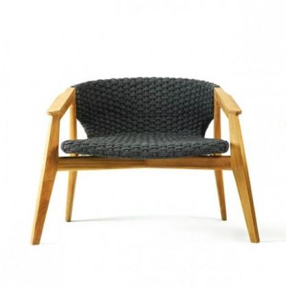 Ethimo Knit Loungesessel, Teak natur