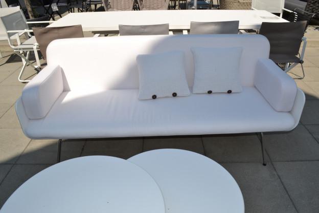 Gartensofa Air Corian Lounge Viteo weiß Edelstahl
