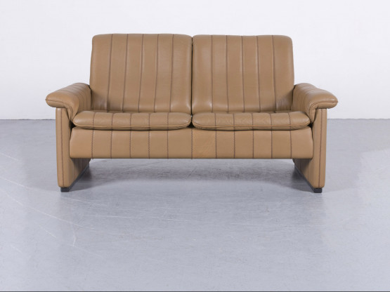 de Sede Leder Sofa Cognac Braun Zweisitzer Couch Anilinleder #5985