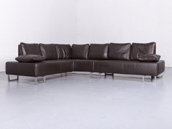 de Sede DS 165 Designer Leder Sofa Braun Echtleder Ecksofa Couch #6694