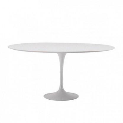 Saarinen Tisch Ø 107 cm in weiß