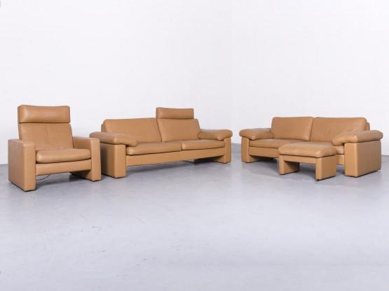 Cor Conseta Designer Leder Sofa Sessel Hocker Garnitur Beige