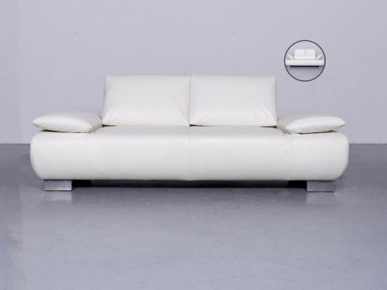 Koinor Volare Designer Leder Sofa Weiß Echtleder Couch #6345
