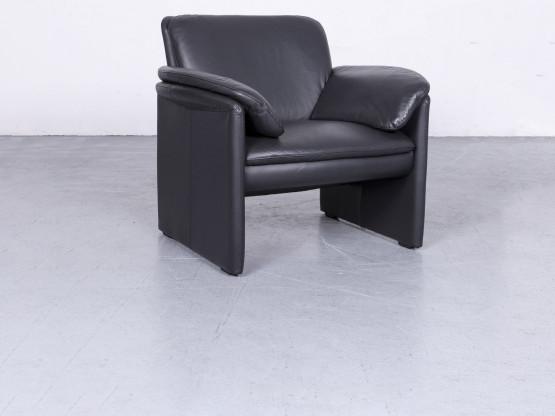 Leolux Catalpa Designer Leder Sessel Schwarz Echtleder Stuhl #6556