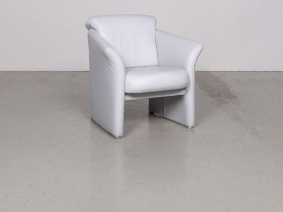 Koinor Designer Leder Sessel Creme Echtleder Stuhl 7594
