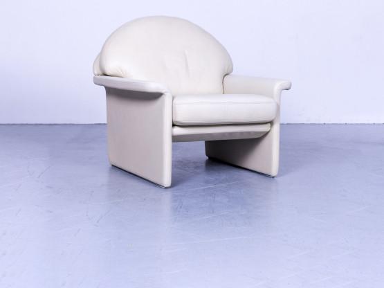 De Sede Designer Leder Sessel Creme Beige Einsitzer Stuhl Echtleder