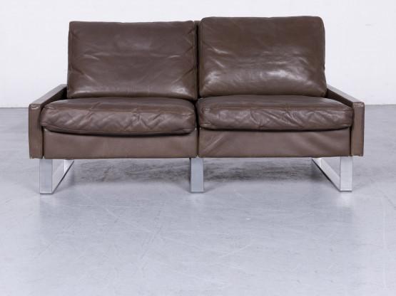 Cor Conseta Designer Leder Sofa Braun Echtleder Zweisitzer Couch #6614