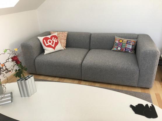 HAY Mags Sofa 2,5 Sitzer Hallingdal grau 130