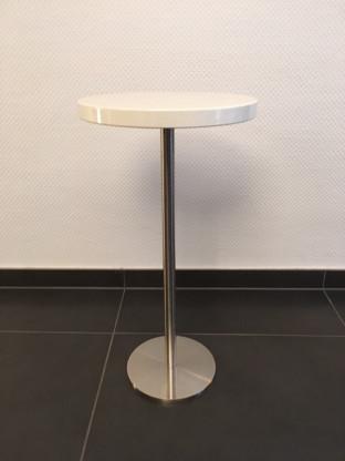 Beistelltisch Platte Hochglanz Rot Designermobel Saarlouis