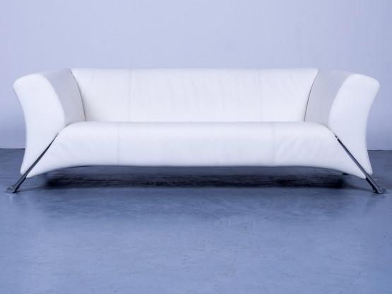 Ledersofa weiß modern  Rolf Benz SOB 322 Designer Sofa Weiß Leder Dreisitzer Couch ...