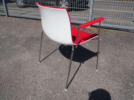 ARPER Stuhl Catifa 53 Spiegelpolster rot - wie neu...