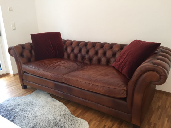 Ralph Lauren Chesterfield Ledersofa
