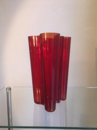Alvar Aalto Vase in rot