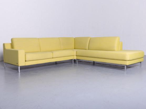 Rolf Benz Ego Designer Stoff Sofa Gelb Ecksofa #6434
