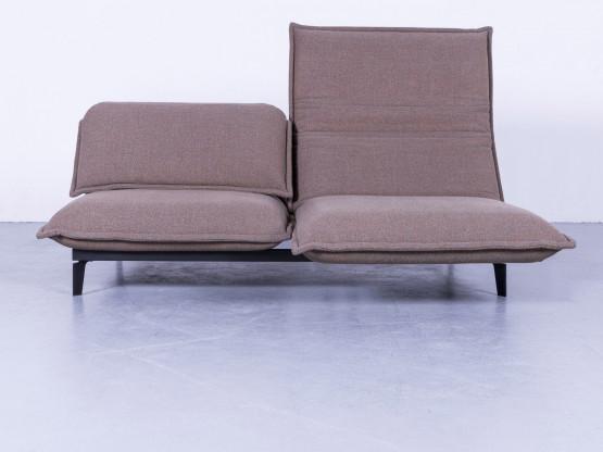rolf benz nova designer stoff sofa braun neuwertig zweisitzer couch funktion 5551. Black Bedroom Furniture Sets. Home Design Ideas
