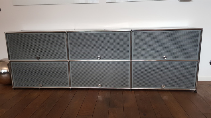 Usm Haller Sideboard 6 Akustik Klappen Mittelgrau Designermöbel Berlin