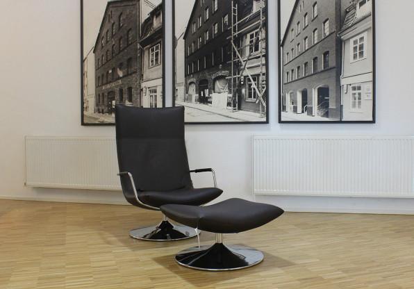 Lounge Sessel Gerard von Brühl Leder dunkelbraun