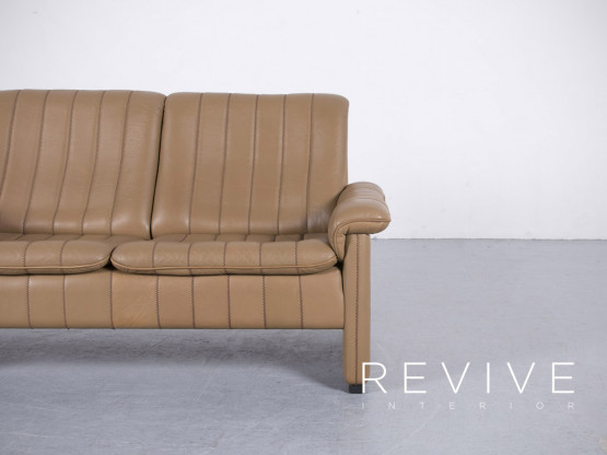 De Sede Leder Sofa Cognac Braun Zweisitzer Couch Anilinleder 5985