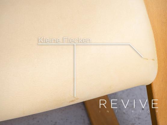Stokke Gravity Balans Designer Schaukelstuhl Creme Echtleder Sessel