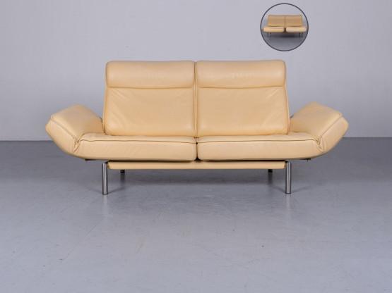 de Sede DS 450 Designer Leder Sofa Beige Echtleder Couch Funktion #6039