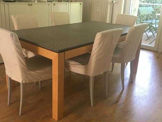 Esstisch von Läsko 180x100 mit Ansteckplatte (60x100) in zeitlosem Design