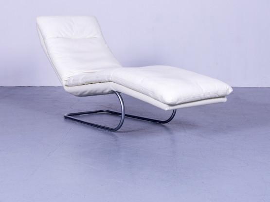 Willi Schillig Jill Designer Leder Liege Weiß Echtleder Relax Liege