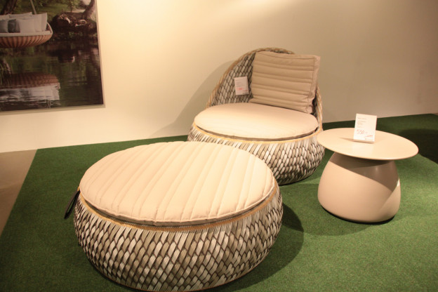 Lounge-Chair + Hocker DEDON Dala