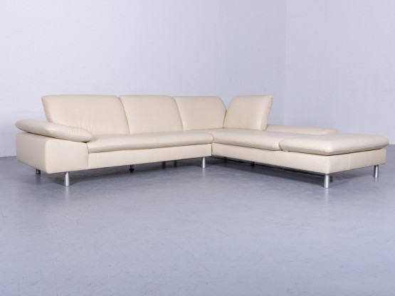 Willi Schillig Loop Designer Ecksofa Leder Beige Couch Funktion Modern Echtleder #4044