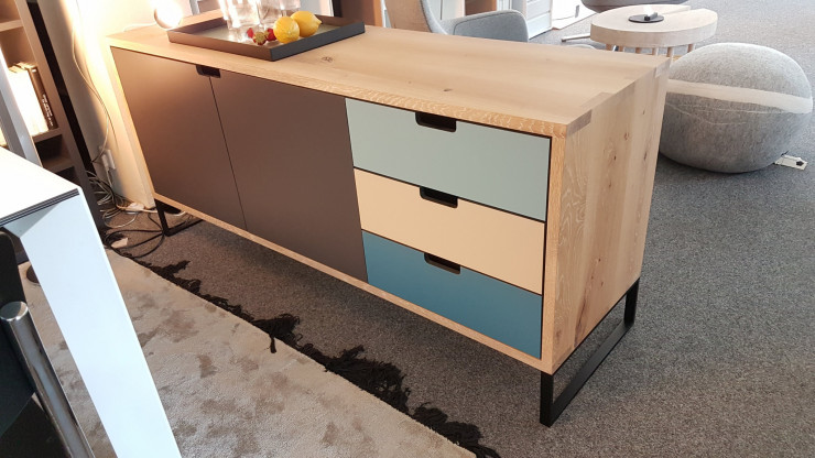 JANUA Sideboard SC 21 Massiv Eiche / HPL