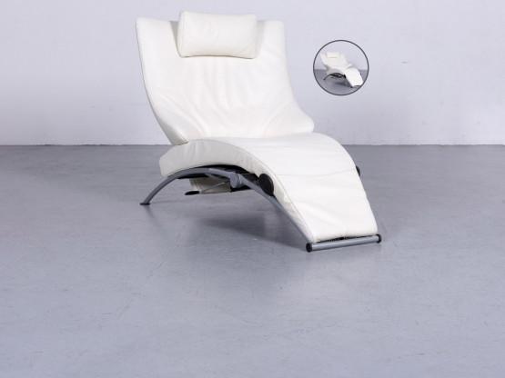 Wk Wohnen Solo 699 Designer Leder Sessel Weiß Echtleder Stuhl