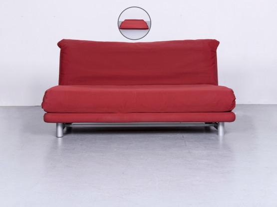 ligne roset Multy Designer Stoff Sofa Rot Dreisitzer Couch Funktion #6386
