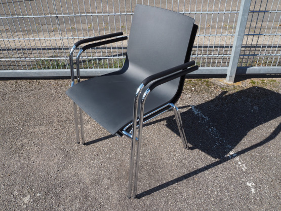 THONET 2x Stuhl S160F schwarz - Setpreis!