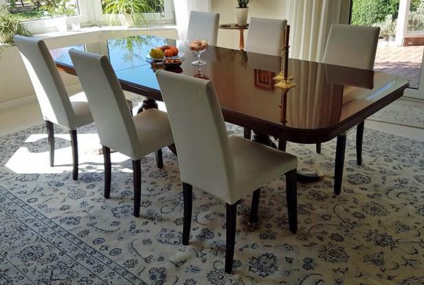 6 gepolsterte Stühle, Hochlehner, gebraucht - wie neu