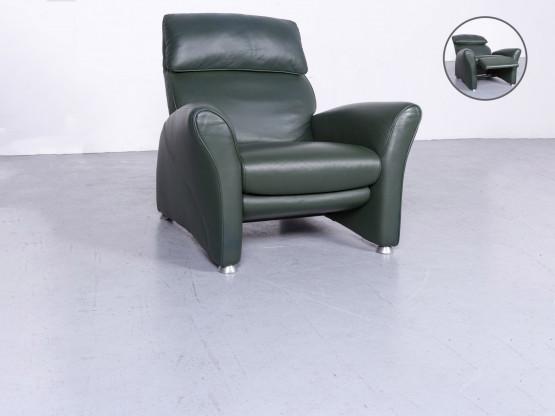 Musterring Designer Leder Sessel Grün Echtleder Stuhl Relax 6660