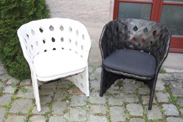 CANSASTA SCN63 Outdoor Sessel in weiß  von B&Bitalia