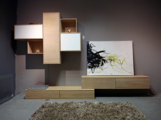 wohnwand vivo eiche wei ge lt massiv designerm bel neuhofen. Black Bedroom Furniture Sets. Home Design Ideas