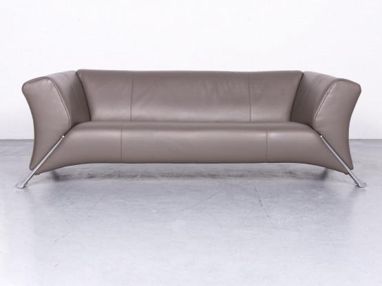 Rolf Benz 322 Designer Leder Sofa Braun Echtleder Zweisitzer Couch #6667