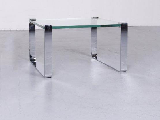 Ronald Schmitt K 830 Designer Glas Tisch Silber Couchtisch Glastisch #6911