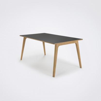 gate dining table graues laminat designerm bel hamburg. Black Bedroom Furniture Sets. Home Design Ideas