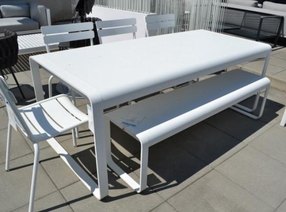 Gartentisch (komplettes Set) Bellevie Fermob weiß Aluminium