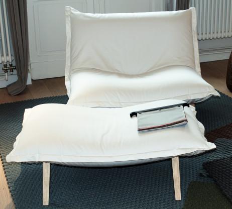 """Sessel und Hocker """"CALIN"""" - verstellbare Rückenlehne"""