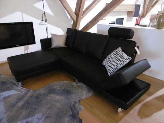 Brühl Sofa FOUR TWO in Leder Choice Schwarz