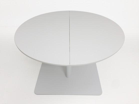 [more] 120 cm ø weiß HPL, Einlegeplatte 50 cm