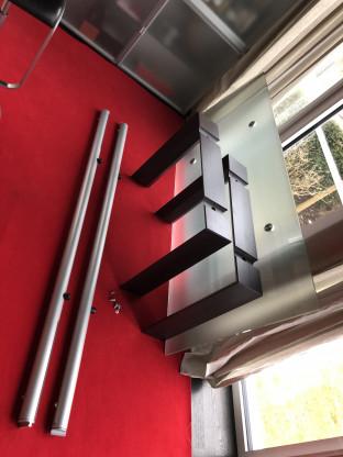Desalto Glastisch Ausziehbar Mit Standfüssen In Wenge