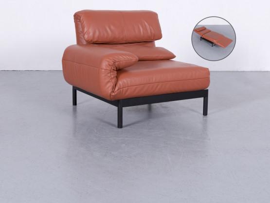 Rolf Benz Plura Designer Leder Sessel Rot Orange Sofa Modul Funktion