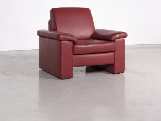 Musterring Designer Leder Sessel Rot Echtleder Stuhl 7280