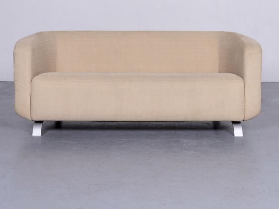 Rolf Benz Designer Stoff Sofa Beige Zweisitzer Couch #6348