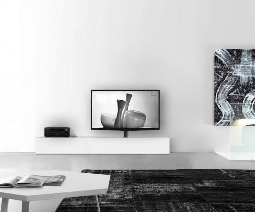 Design Lowboard B240 Matt Weiß mit TV Halterung