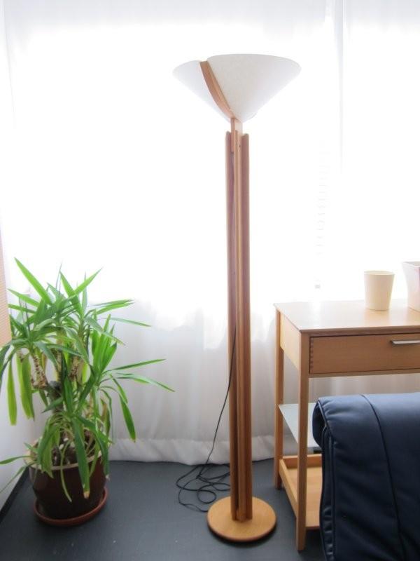 hochstehlampe erle massiv von team 7 designerm bel sindelfingen. Black Bedroom Furniture Sets. Home Design Ideas